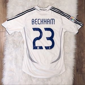 huge selection of dfa69 eecac David Beckham Real Madrid Jersey